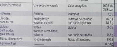 Multigrain Hoops - Nutrition facts