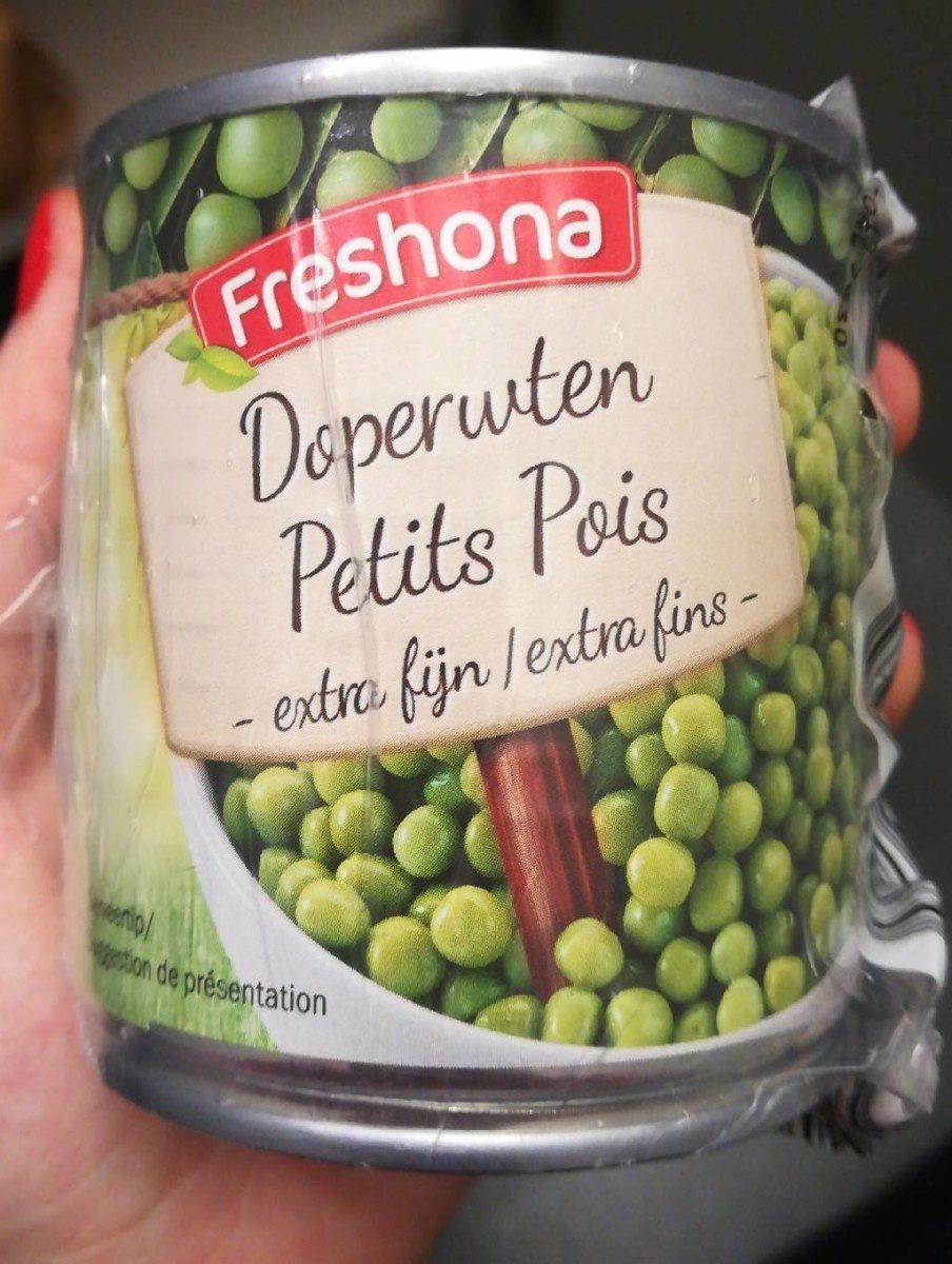Petits Pois (doperwtjes) 3 Blikjes x 212 ML (freshona) - Produit