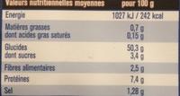 Original französisches Steinofen Baguette - Voedingswaarden