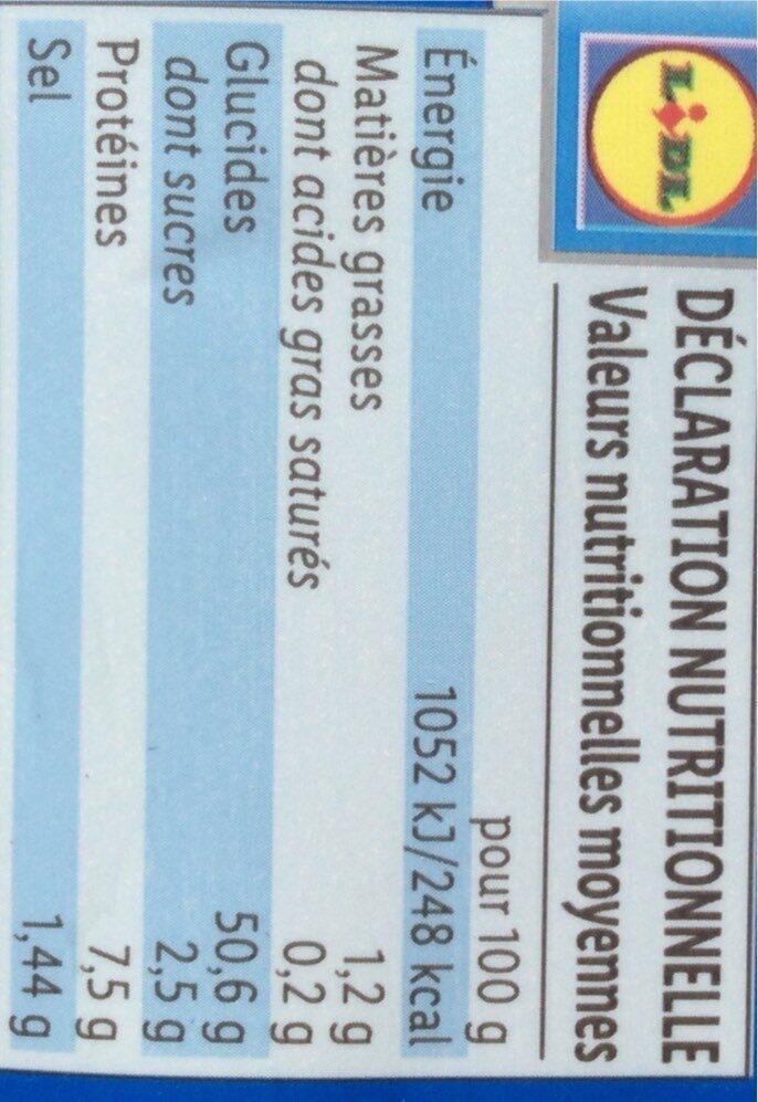 2 Demi-Baguettes - Valori nutrizionali - fr