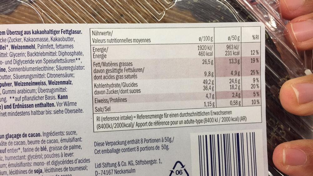Gateau chocolat - Voedigswaarden