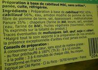 Panés cabillaud msc - Ingredients