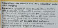 Panés au colin d'Alaska MSC - Ingredients - fr