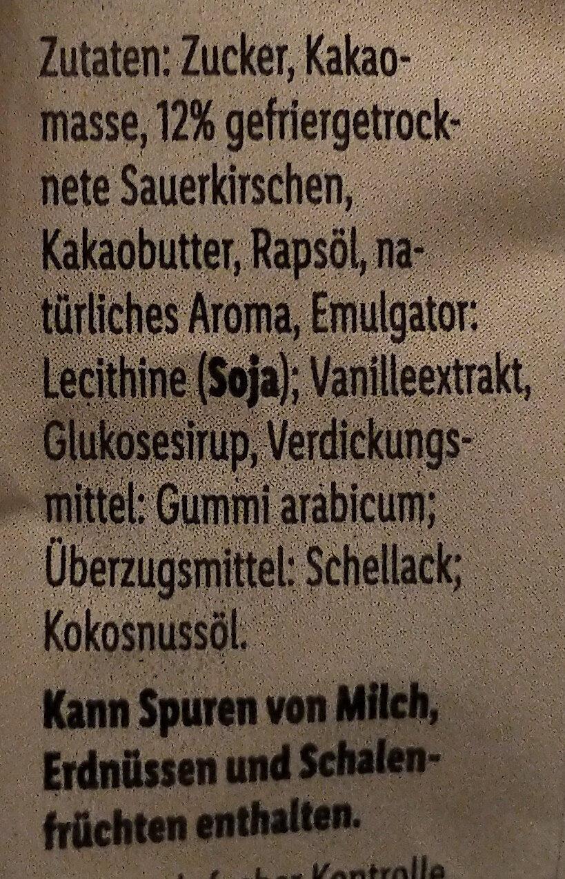 Sauerkirschen in Zartbitterschokolade - Ingredienti - de