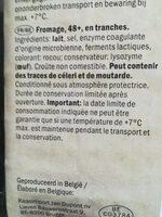 Fromage - Ingrediënten - fr