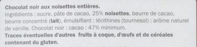 Noir noisettes entières - Ingrediënten