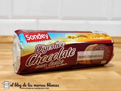 Galletas digestive con chocolate con leche - Producto - es