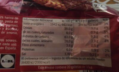 Digestivo chocolate con leche - Información nutricional - es