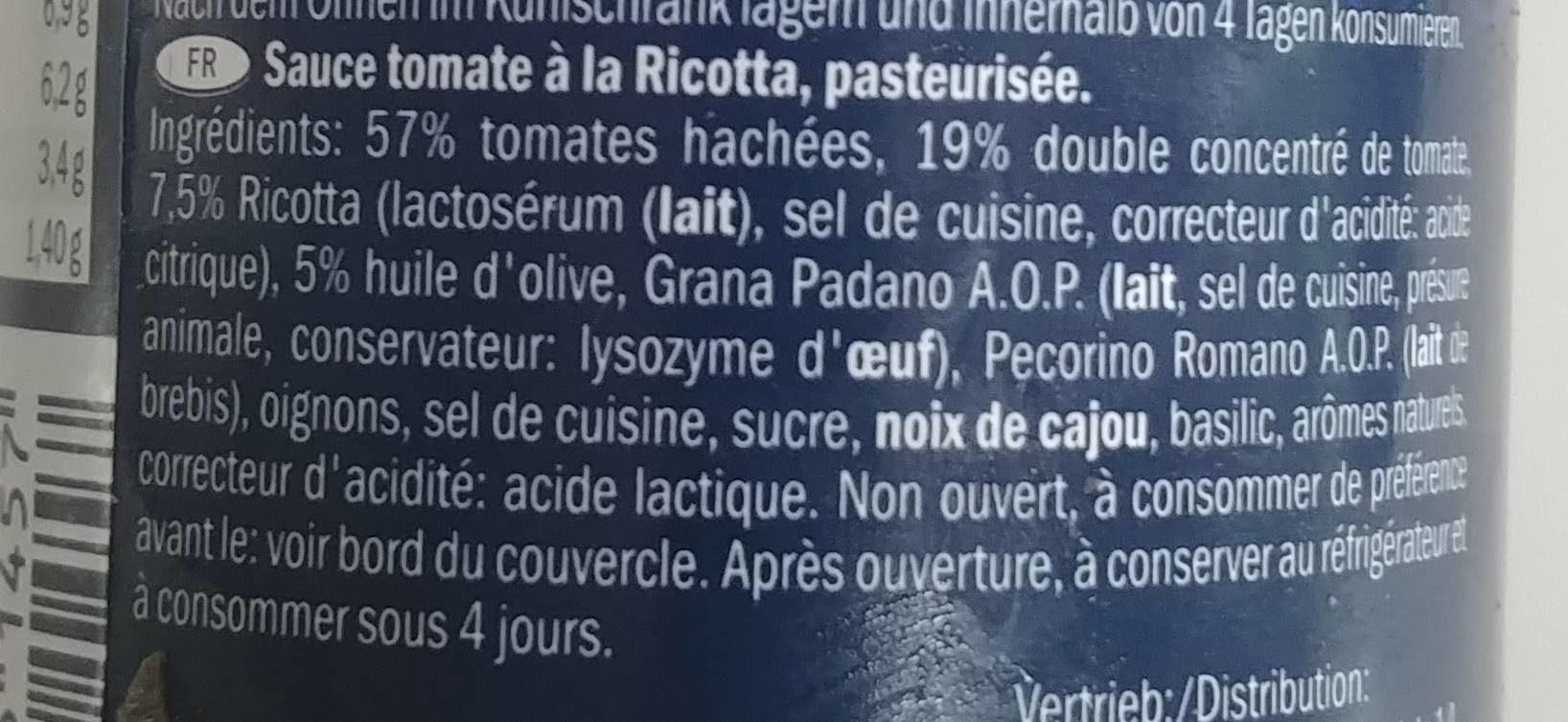 Sugo alla Romana - Ingrédients