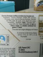Les Orangettes - Ingrédients - fr