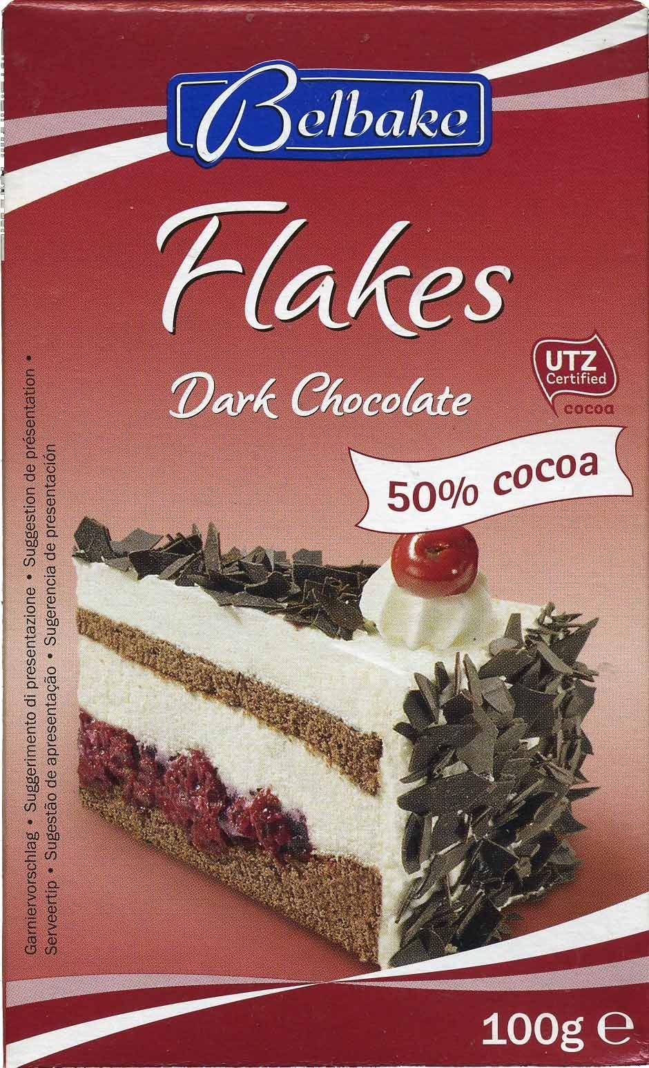 Dark chocolate flakes 50% cocoa - Product - es