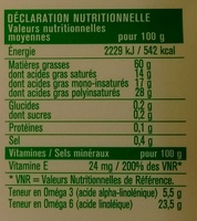 Tartine & Cuisson Doux - Nutrition facts - fr