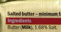 British Salted Butter - Ingredients