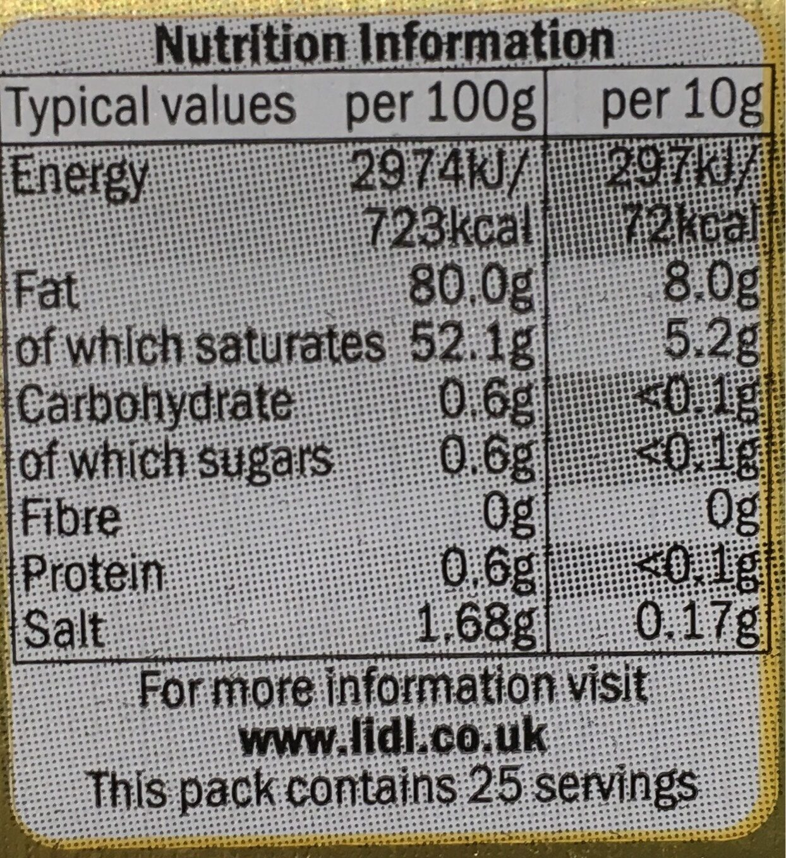 British Salted Butter - Nutrition facts - en