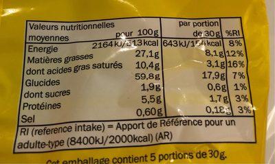 Tortilla chips - Informació nutricional
