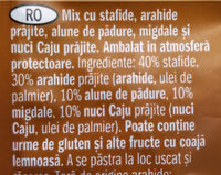 Nuts and raisin - Ingredients - ro