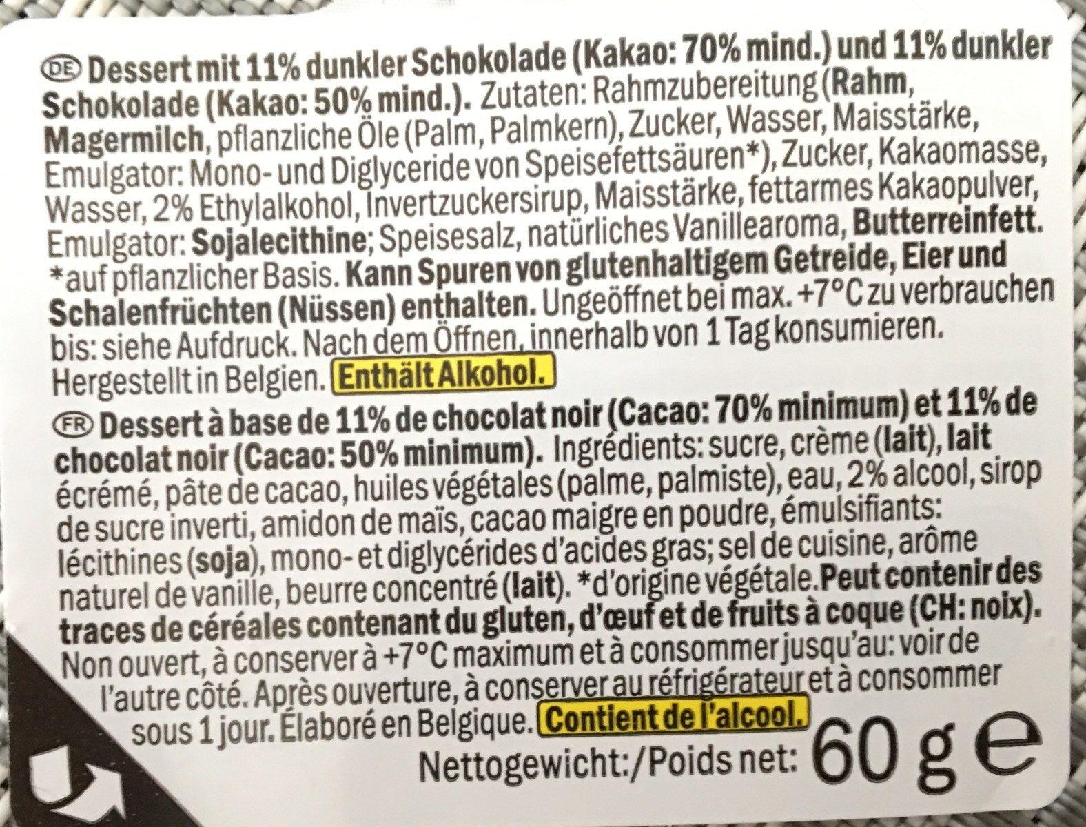 Kerst: Dessertglaasje Pure Chocolade 60 Gram (delicieux) - Ingredients