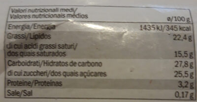 Kerst: Dessertglaasje Pure Chocolade 60 Gram (delicieux) - Nutrition facts