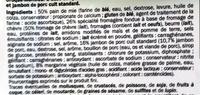 Croque-Monsieur Jambon & Chèvre - Ingrediënten - fr