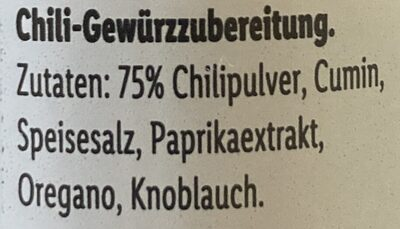 Chilli Powder - Zutaten - de
