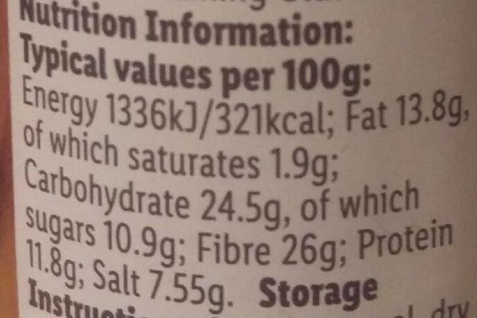 Chilli Powder - Valori nutrizionali - en
