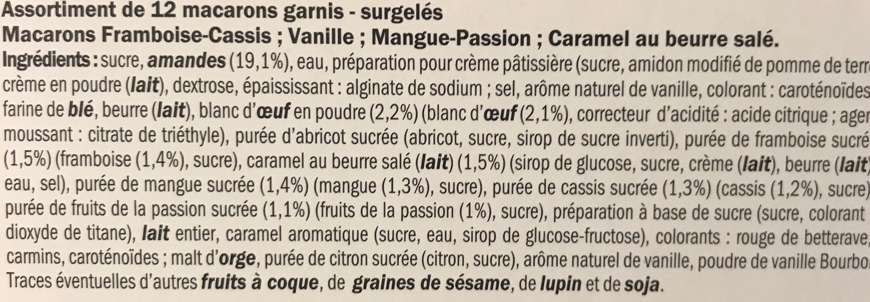 12 Macarons - Ingredients