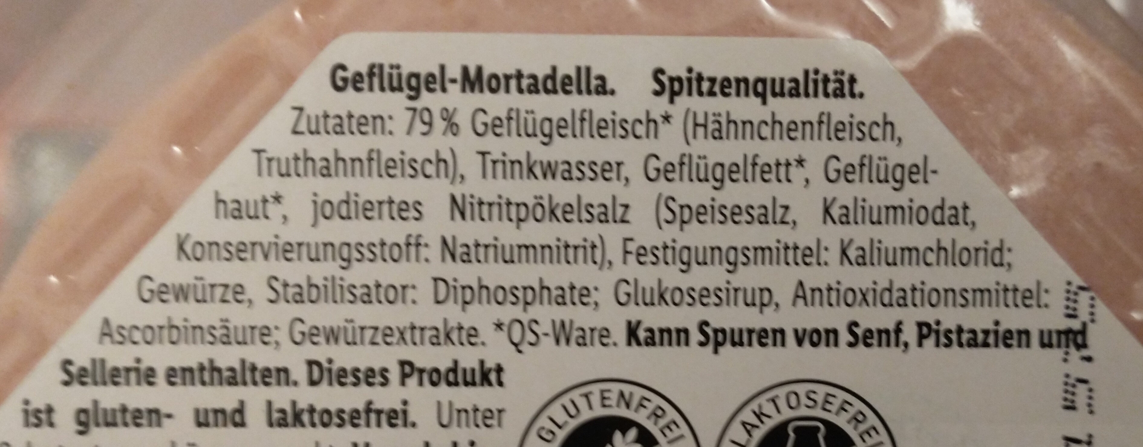 Geflügel-Mortadella - Zutaten - de