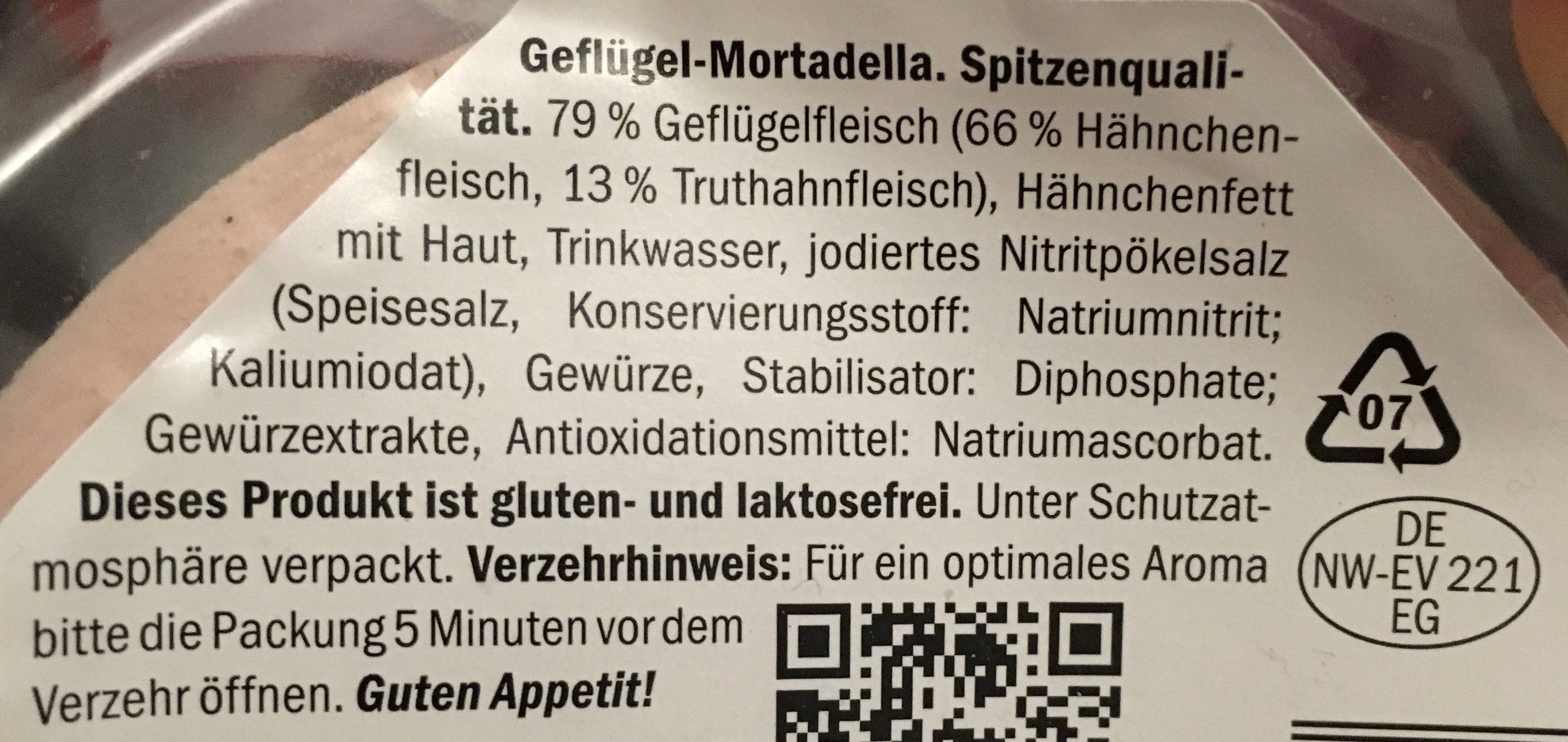 Geflügel-Mortadella - Zutaten
