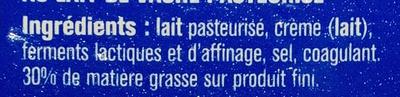 Le petit Doucrémeux (30% MG) - Ingredients - fr