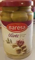 grüne Oliven gefüllt mit Knoblauch - Produit