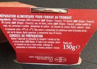 Petite Fondue - Ingrédients - fr