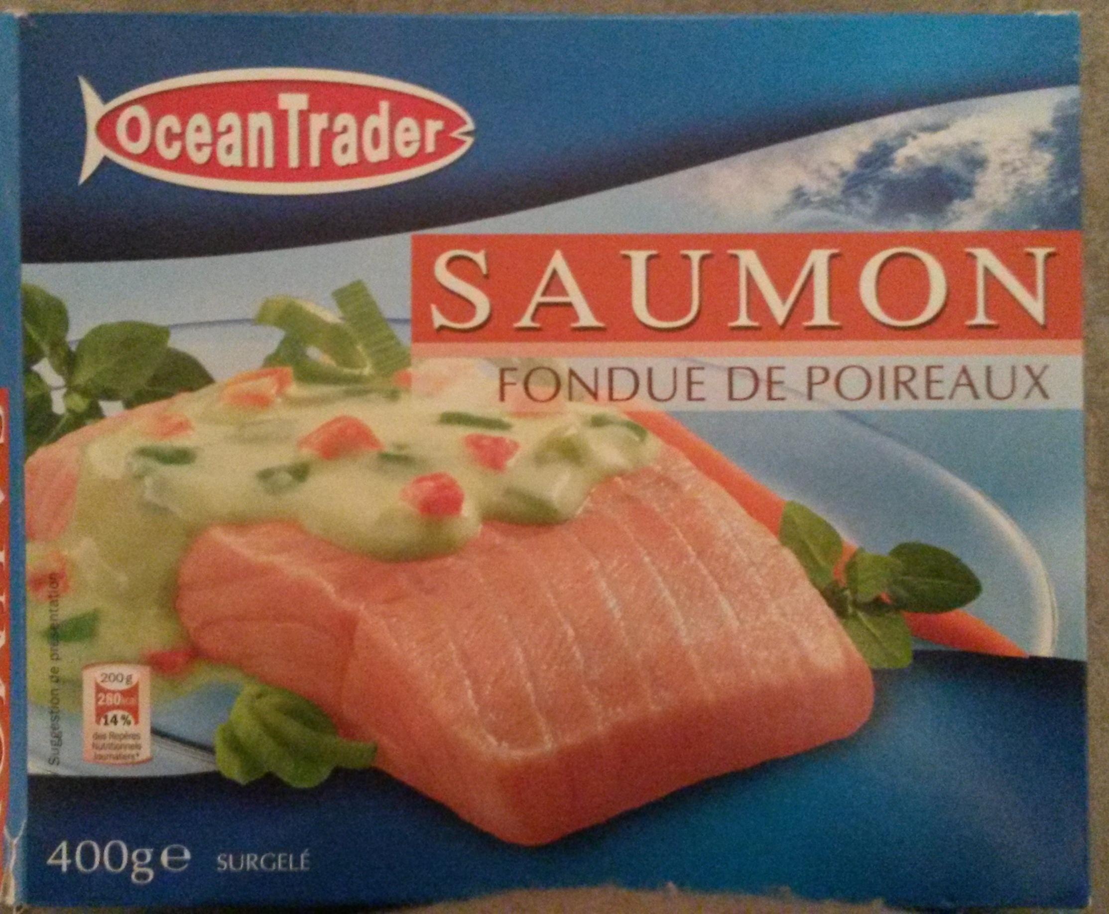 saumon fondue de poireaux surgel ocean trader 400 g 2 x 200 g. Black Bedroom Furniture Sets. Home Design Ideas