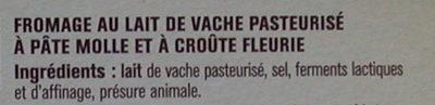 Camembert de Caractère - Inhaltsstoffe