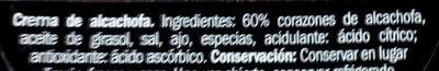 Crema Alcachofa - Ingredientes