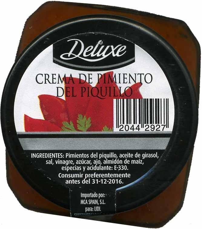 Crema De Pimiento Del Piquillo - Producto