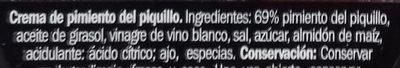 Crema De Pimiento Del Piquillo - Ingredientes