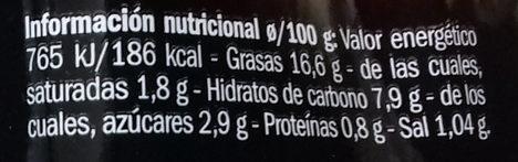 Crema De Pimiento Del Piquillo - Información nutricional