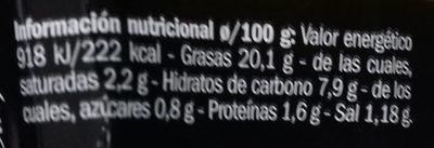 Crema Espárrago Verde - Información nutricional
