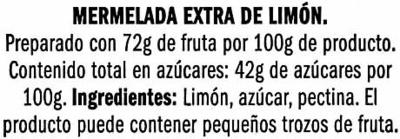 """Mermelada de limón """"Deluxe"""" - Ingredients - es"""