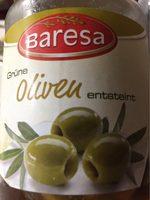 Grüne Oliven - olives vertes dénoyautées - Produit