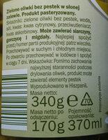 Green olives - Składniki - pl