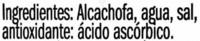Corazones de alcachofa de Tudela - Ingrediënten