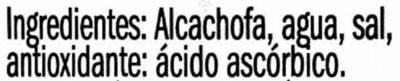 Corazones de alcachofa de Tudela - Ingredientes - es