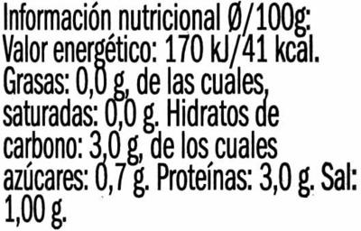 Corazones de alcachofa de Tudela - Voedingswaarden