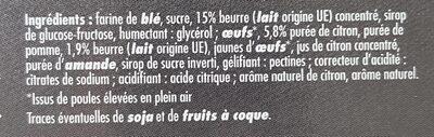 Tartelettes citron - Ingrédients