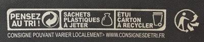 Tartelettes citron - Instruction de recyclage et/ou information d'emballage - fr