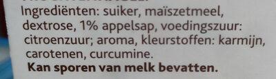 Vruchtenhagel - Ingrediënten - nl