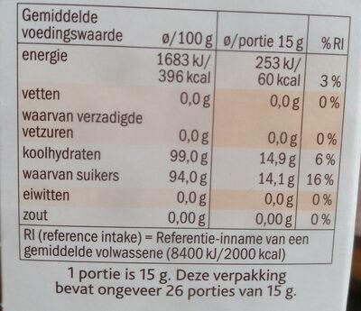Vruchtenhagel - Voedingswaarden - nl