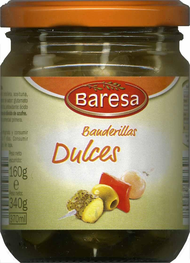 """Surtido de encurtidos en banderillas """"Baresa"""" Dulces - Product"""