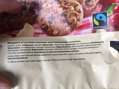 Galletas con arándanos - Ingredientes